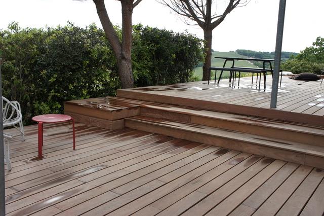 terrasse IPE - marche en bois