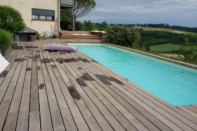 terrasse IPE - tour de piscine